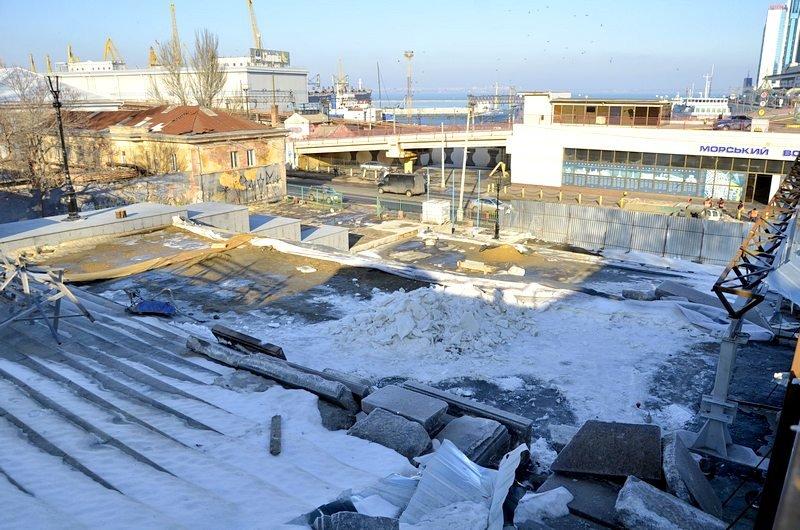 Потемкинскую лестницу затопили, угроза исходит от реставраторов (ФОТО), фото-10