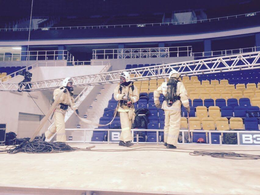 """В безопасности ли гости """"Алматы Арены"""", на личном опыте проверили пожарники. ФОТО, фото-1"""