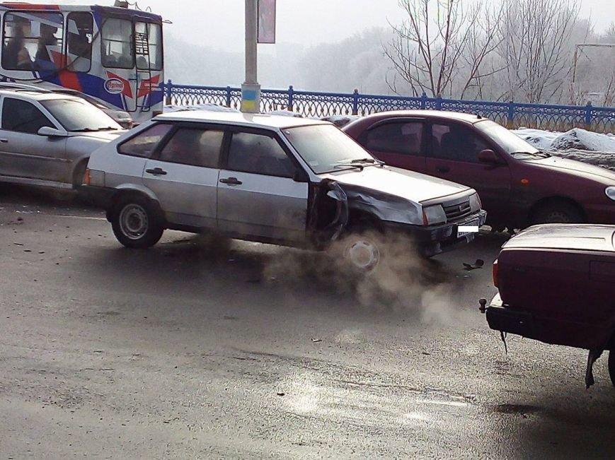 ДТП в Сумах: на Харьковском мосту не разминулись 2 автомобиля (ФОТО), фото-4
