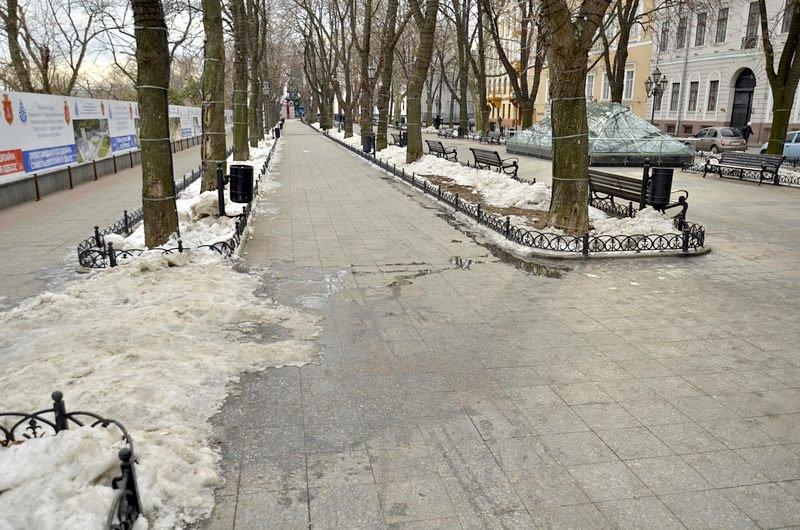 Под окнами Труханова забыли убрать снег (ФОТО), фото-5