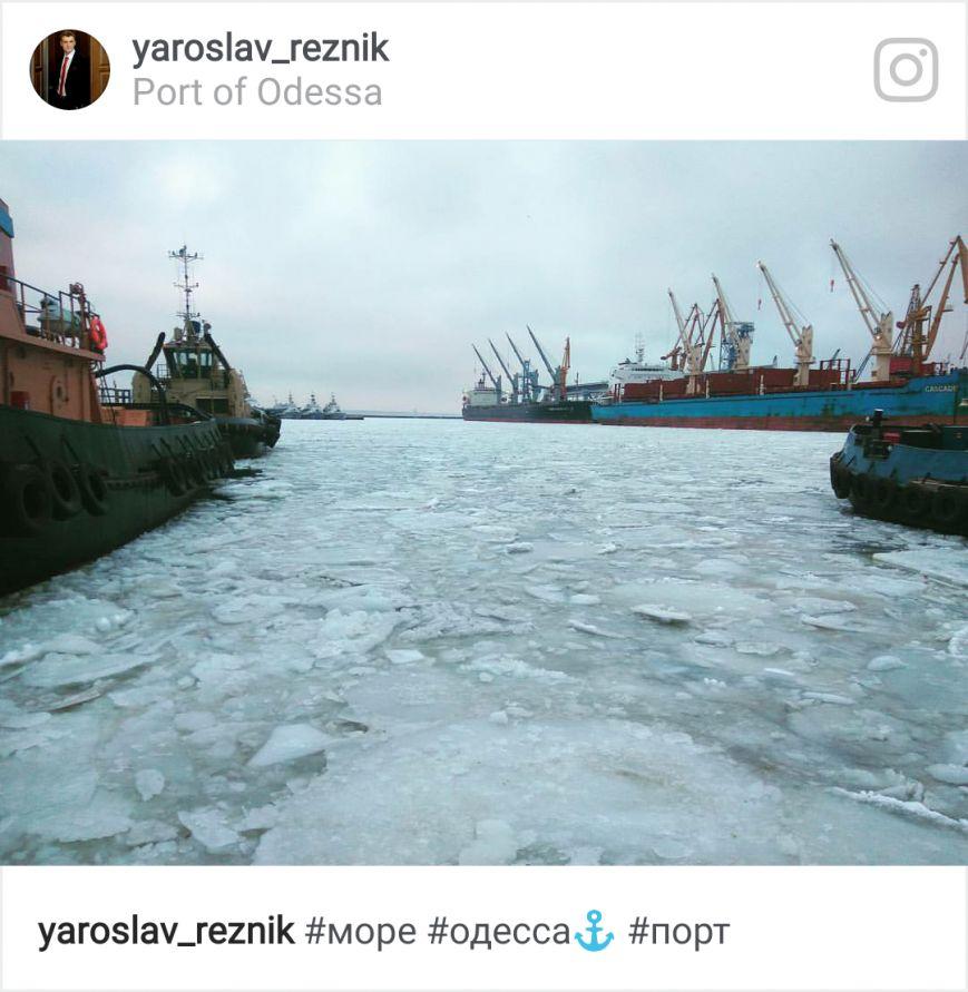 Как соцсети отреагировали на ледяной покров в порту, фото-2