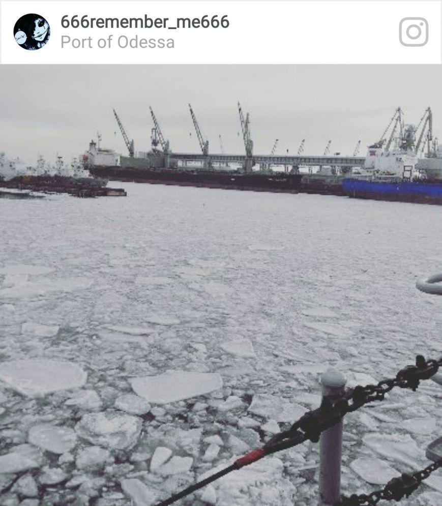 Как соцсети отреагировали на ледяной покров в порту, фото-9