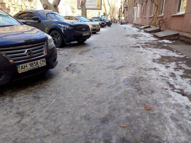 Коммунальщики оставили каток на центральной улице Одессы  (ФОТО), фото-2