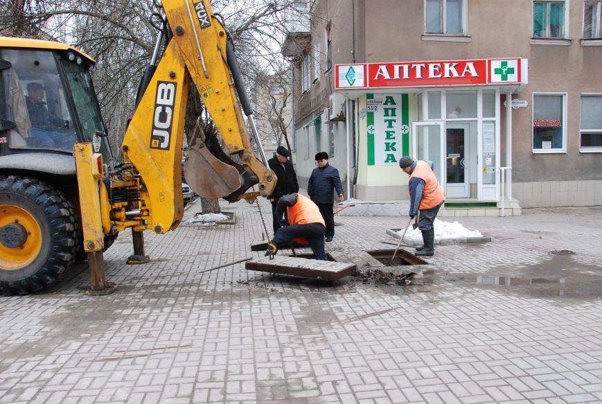 В Бердянске  начали восстанавливать функции ливневой канализации на Азовском проспекте, фото-1