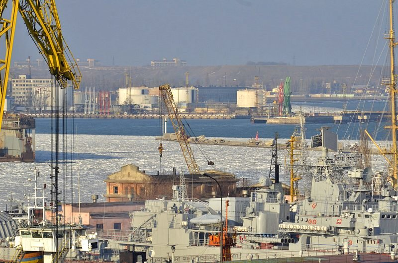 В Одессе льды сковали корабли Военно-морских сил Украины (ФОТО), фото-5