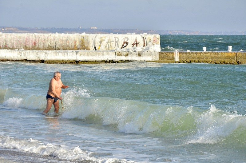 В Одессе крещенские моржи установили Национальный рекорд (ФОТО), фото-1