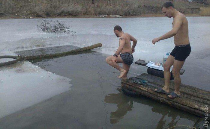 Крещение на фронте: морпехи окунулись в Азовское море под Мариуполем, фото-3