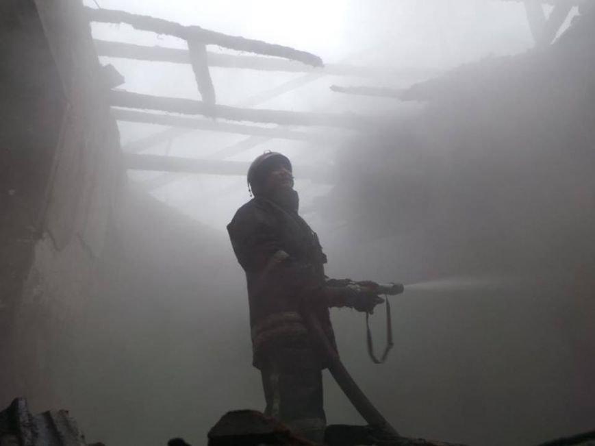 В Бердянске горело складское помещение, фото-4