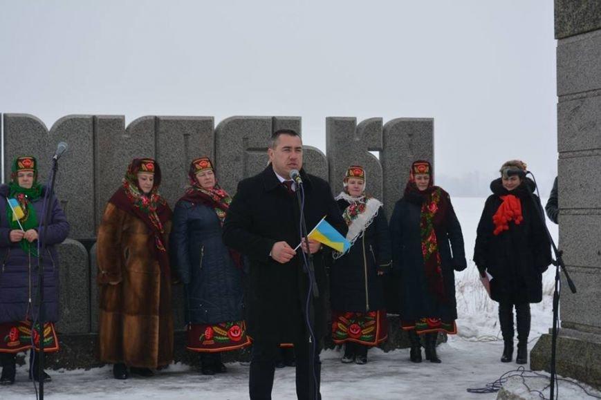 На кордоні Новоград-Волинського та Корецького районів відбувся захід присвячений Дню Соборності України, фото-3