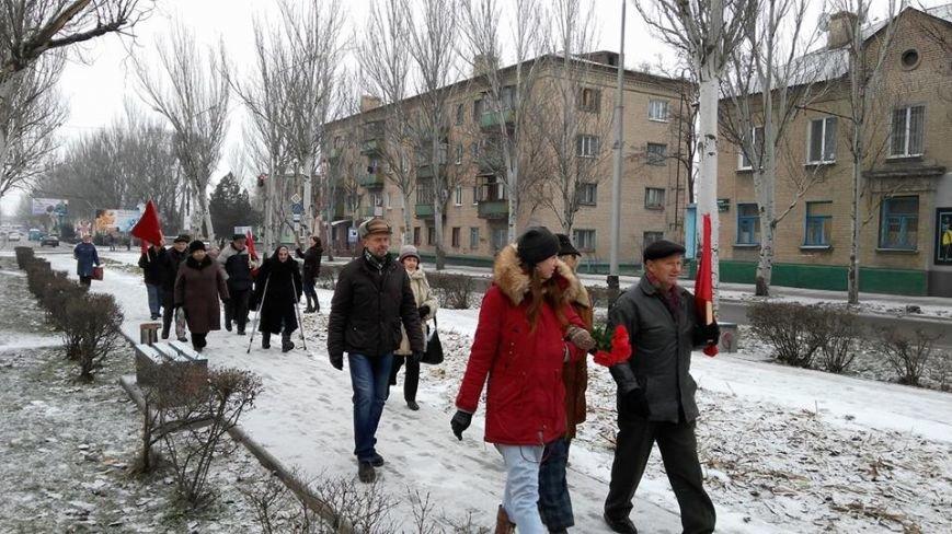 В Мелитополе прошла колонна с портретом Ленина, - ФОТО, фото-5