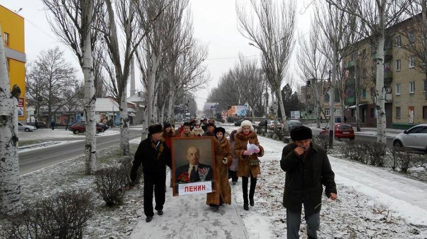 В Мелитополе прошла колонна с портретом Ленина, - ФОТО, фото-2