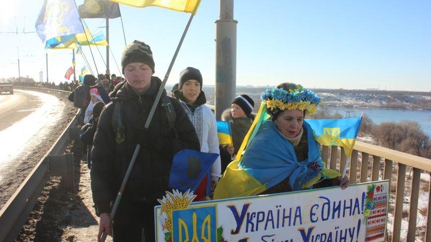 Запорожцы соединили два берега Днепра живой цепью в честь Дня Соборности,- ФОТОРЕПОРТАЖ, фото-5