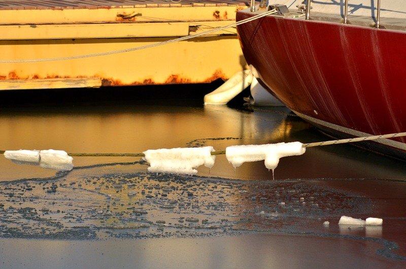 В Одессе лед заковал яхты (ФОТО), фото-7