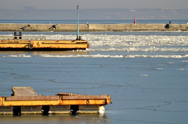 В Одессе лед заковал яхты (ФОТО), фото-10