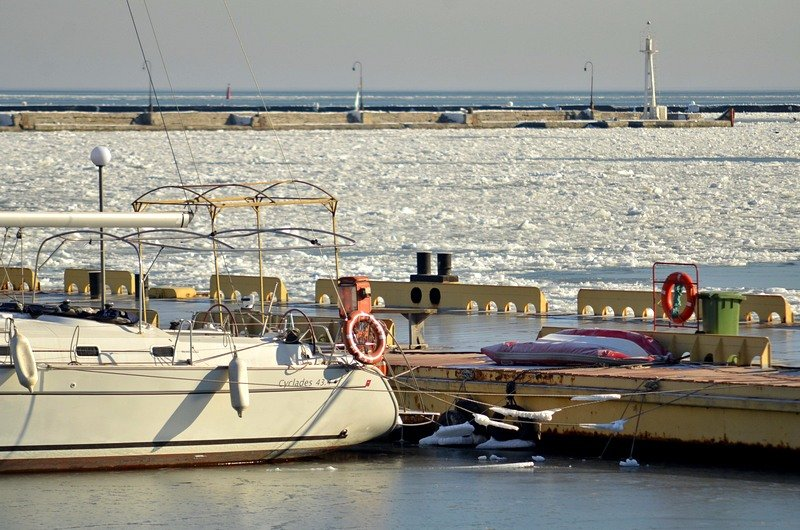 В Одессе лед заковал яхты (ФОТО), фото-4