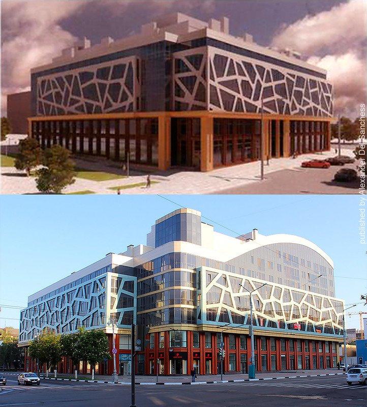 Было-стало. Краевед Санчесс сравнил белгородские здания с их эскизами, фото-2