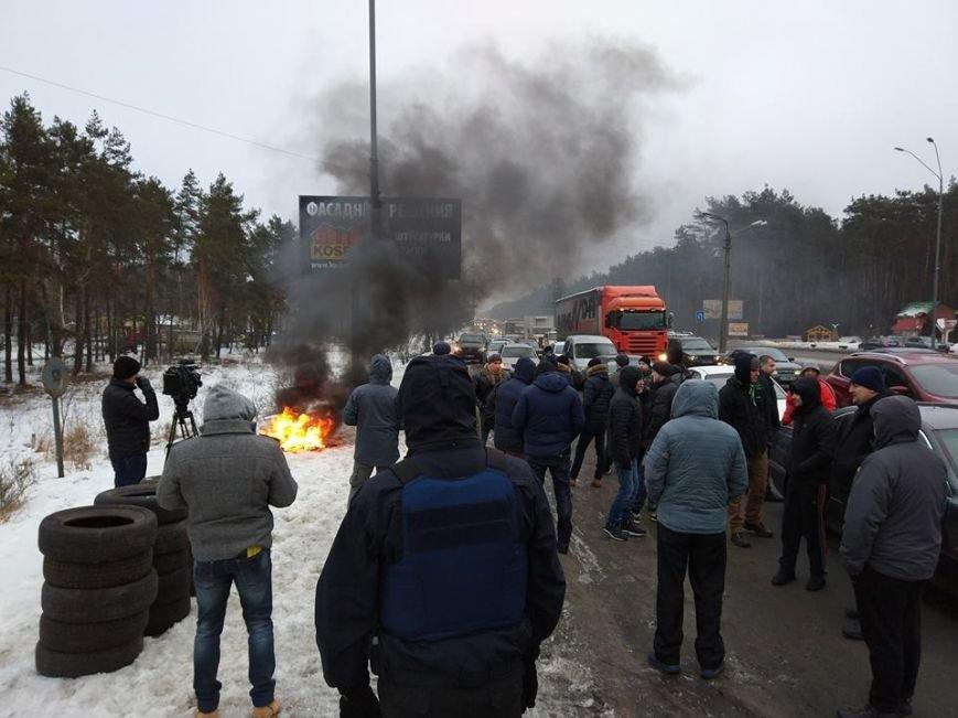 Протести під Києвом: перекривають дороги та палять шини (Фото, Відео), фото-6
