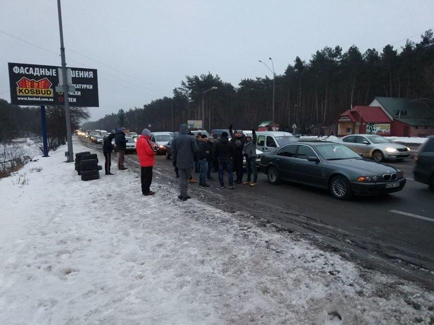 Протести під Києвом: перекривають дороги та палять шини (Фото, Відео), фото-2