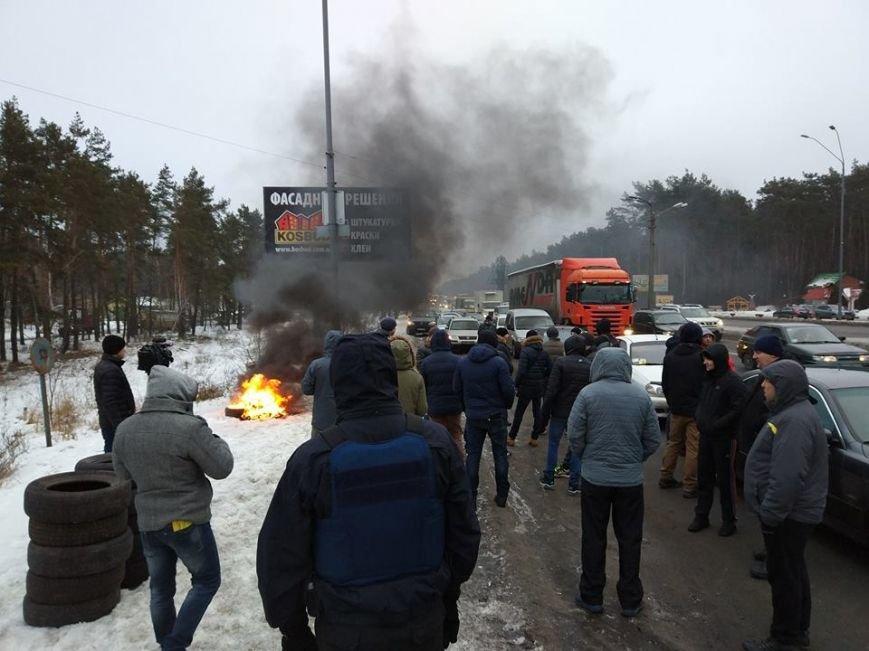 Протести під Києвом: перекривають дороги та палять шини (Фото, Відео), фото-5