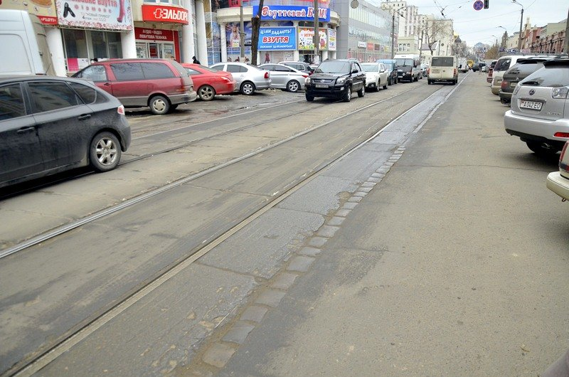 Трамвай возле Привоза сошел с рельсов на ровном месте, фото-4