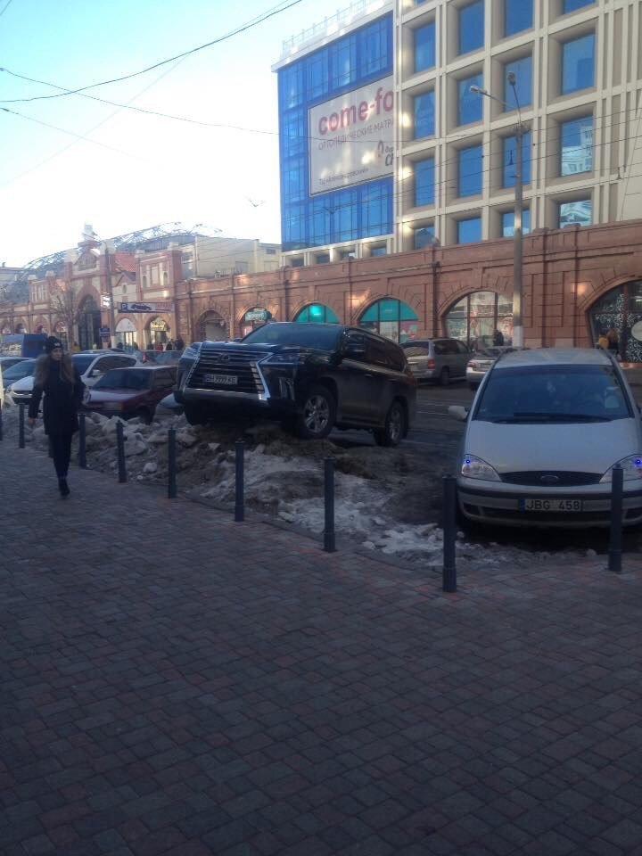 Одессит припарковал Lexus вертикально в сугроб (ФОТО), фото-1