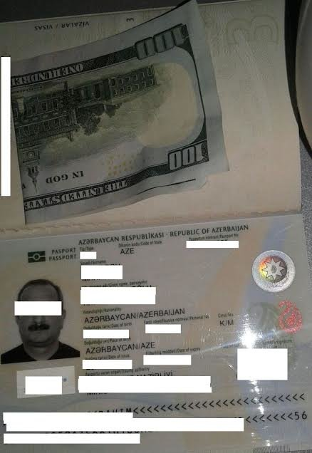 Задержаный азербайджанец