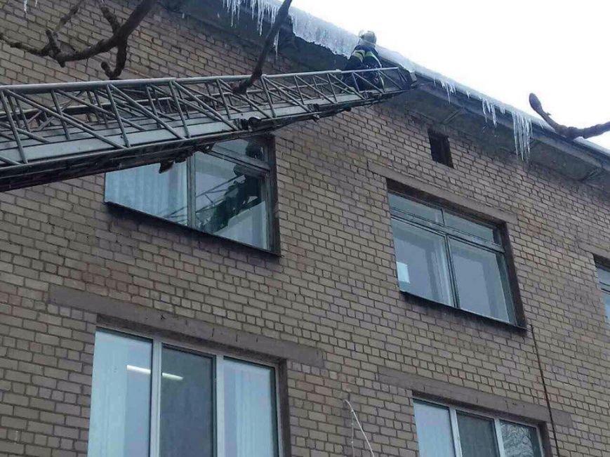"""В Днепре """"спасли"""" больницу от ... сосулек (ФОТО), фото-3"""