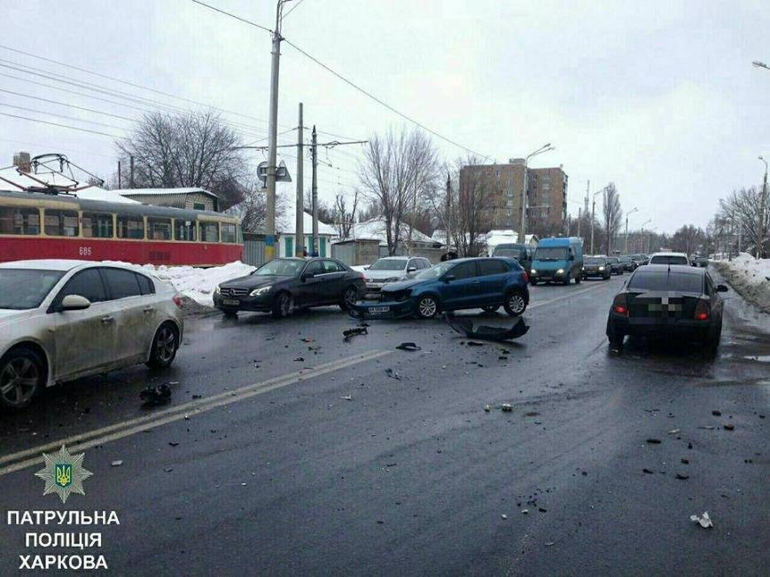 Из-за тройного ДТП на улице Шевченко образовалась пробка (ФОТО), фото-4