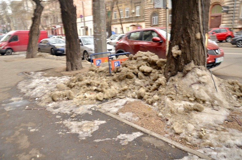 Улицы и тротуары Одессы остались покрыты льдом (ФОТО), фото-8