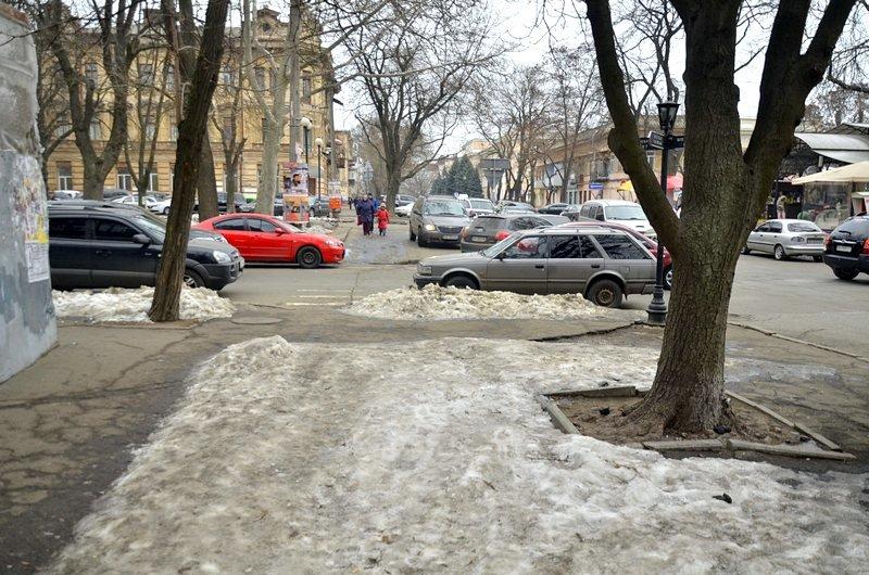 Улицы и тротуары Одессы остались покрыты льдом (ФОТО), фото-3