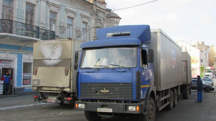В нижней части Мелитополя затруднено движение маршруток (фото), фото-1