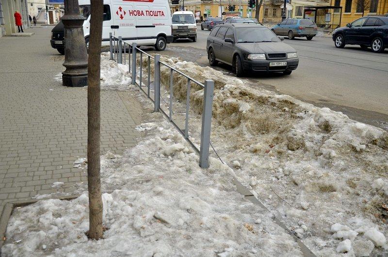 В Одессе сугробы «пленили» автомобили (ФОТО), фото-4