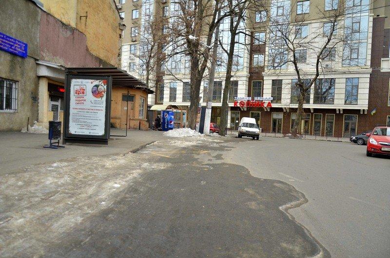 В центре Одессы остались горы снега, а на рынке не убирают (ФОТО), фото-2
