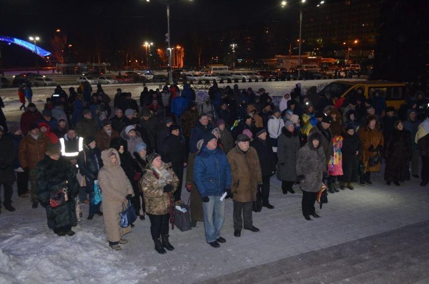 В Запорожье на акцию, посвященную годовщине разгона Майдана, пришел Шацкий и еще сотня горожан, фото-1