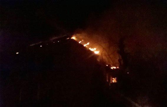 Бахмут пожар в Часов Яре 27.01.17 1
