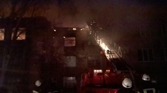 Бахмут пожар в Часов Яре 27.01.17 4