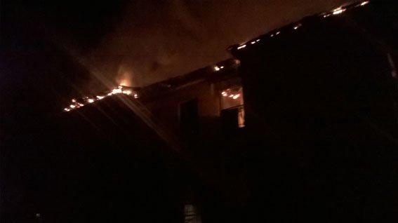 Бахмут пожар в Часов Яре 27.01.17 2