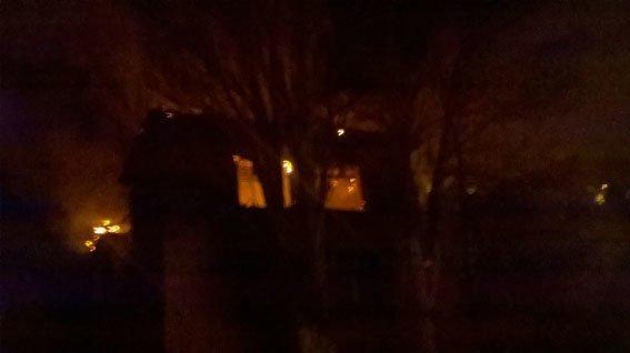 Бахмут пожар в Часов Яре 27.01.17 3