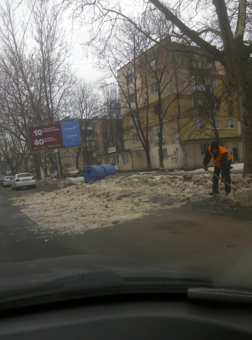 Одесские дворники устроили дорожную обструкцию на Филатова (ФОТО), фото-1