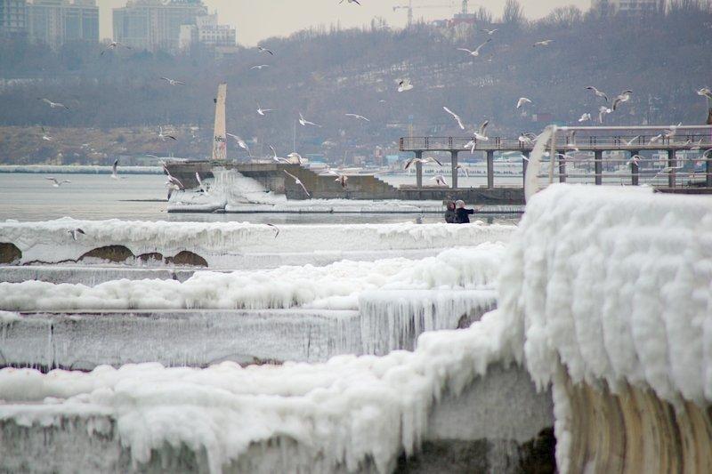 Ланжерон приготовился к выходным: лед ждет одесситов (ФОТО), фото-8