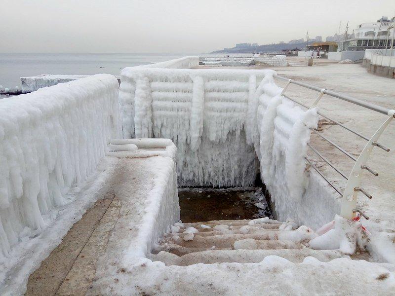 Ланжерон приготовился к выходным: лед ждет одесситов (ФОТО), фото-13