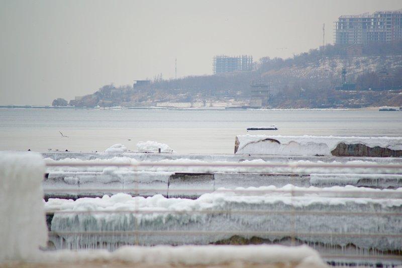 Ланжерон приготовился к выходным: лед ждет одесситов (ФОТО), фото-7