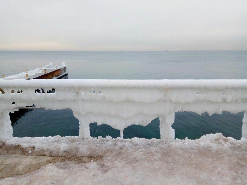 Ланжерон приготовился к выходным: лед ждет одесситов (ФОТО), фото-12