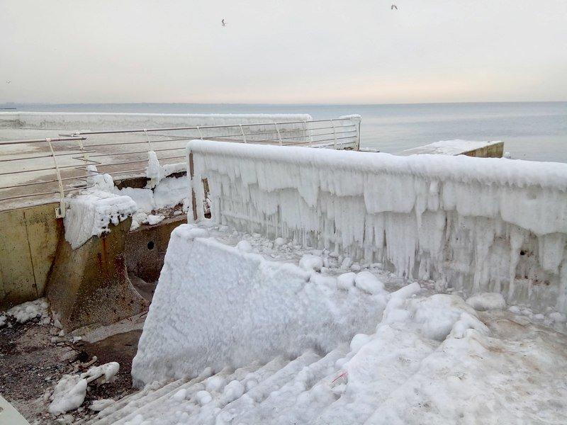 Ланжерон приготовился к выходным: лед ждет одесситов (ФОТО), фото-15
