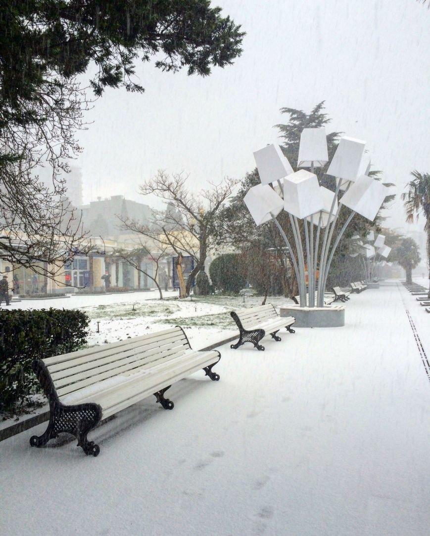 ФОТО: Ялту завалило снегом, фото-8