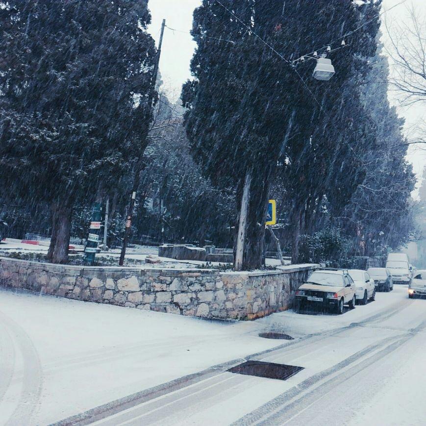 ФОТО: Ялту завалило снегом, фото-16