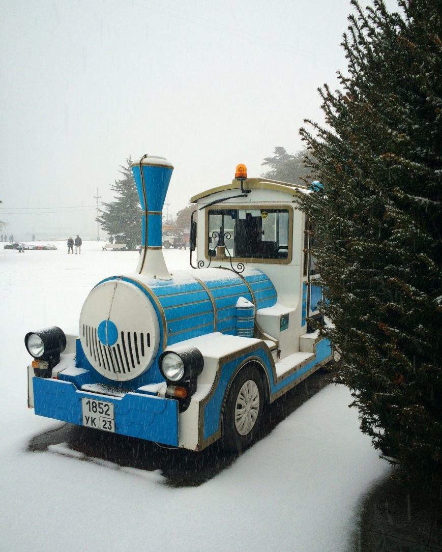 ФОТО: Ялту завалило снегом, фото-5