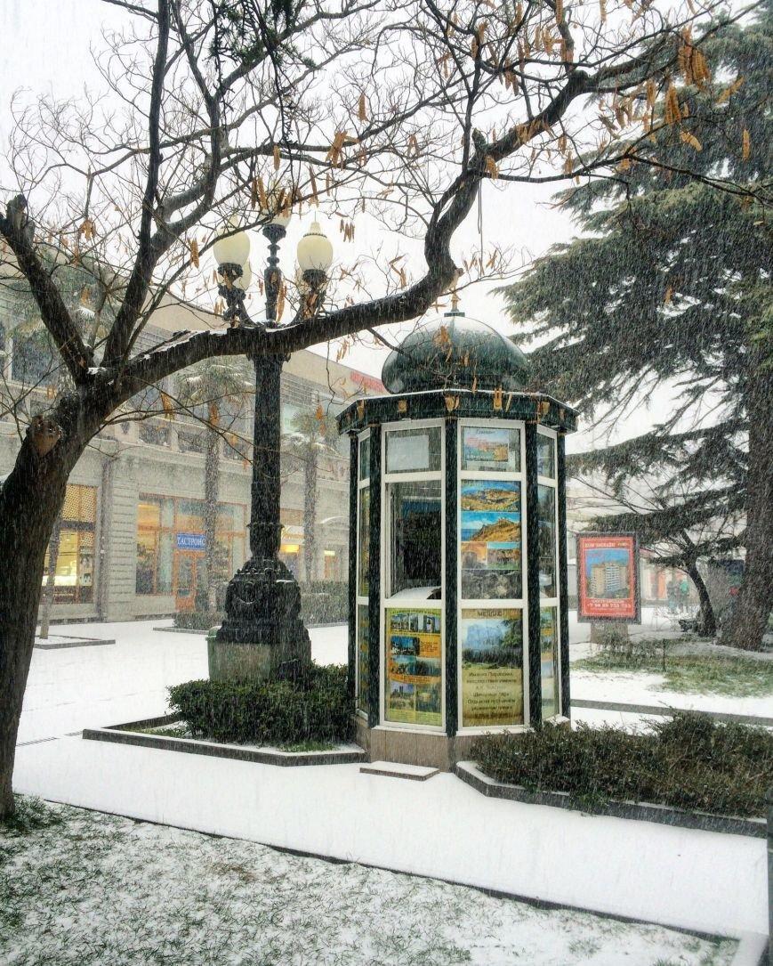 ФОТО: Ялту завалило снегом, фото-7