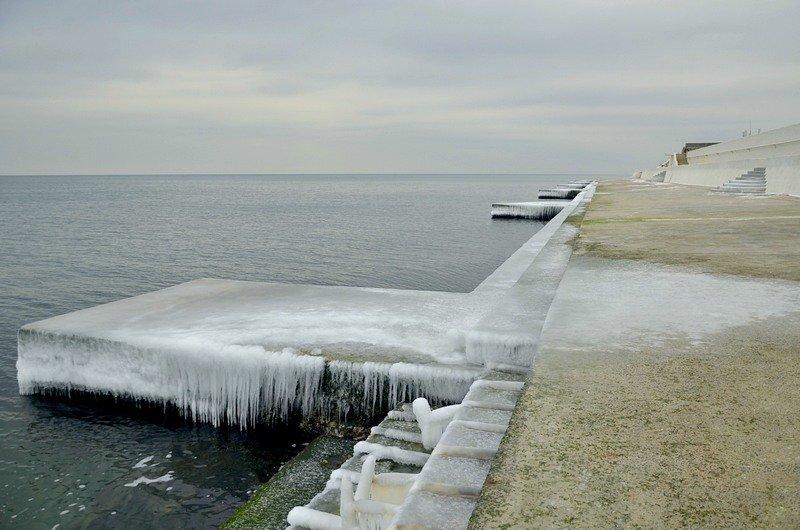 Одесская Аркадия превратилась в зимнюю сказку (ФОТО), фото-16