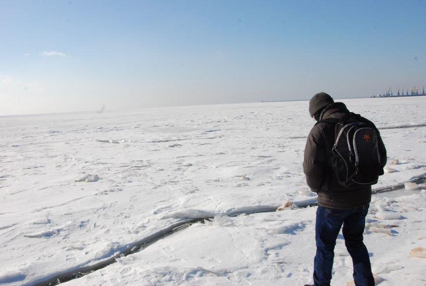 Азовское море покрылось льдом (ФОТОРЕПОРТАЖ), фото-2